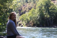 Courtney, Rogue River, August 2012.